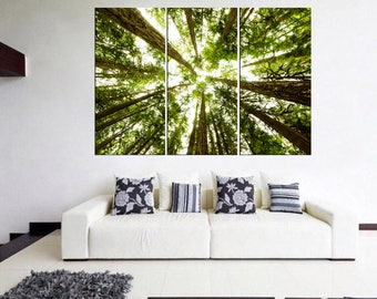 Extra large canvas print,tree canvas wall art,forest wall decor, large canvas art, home and office decor, Qn6