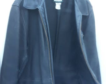 Vintage Roots Leather Jacket, Ladies Leather Coat, Roots Canada, Made in Canada, Genuine Leather Coat