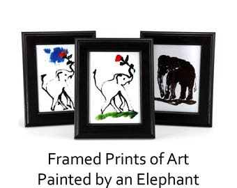 Framed Prints of Art Painted by an Elephant, Elephant Art