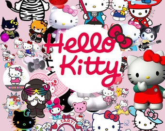 Hello Kitty 60 Clipart  -Digital-ClipArt-PNG-image-300 PPI- PNG Images-Digital Clip Art background-Hello Kitty Scrapbooking-Instant Digital