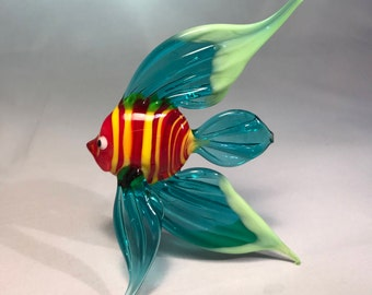 HandMade Color glass fish
