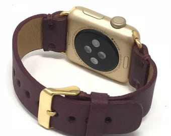 Leather Apple Watch 38mm-42mm Band | Series 1-2-3 iWatch Strap