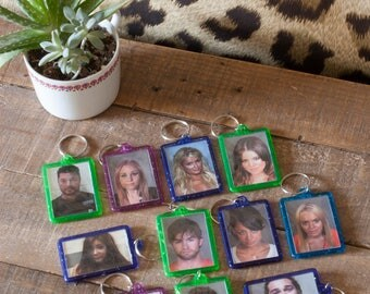 Celebrity mugshot Keychains