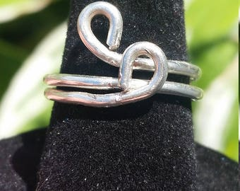 Silver Wire Wrapped Simple Ring - Size 5 3/4