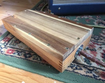 Stomp Box, Acacia Wood Top And Base.