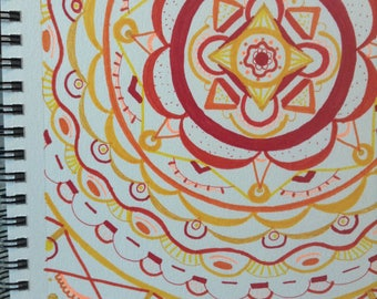 Zentangle Design - Warm Color Scheme