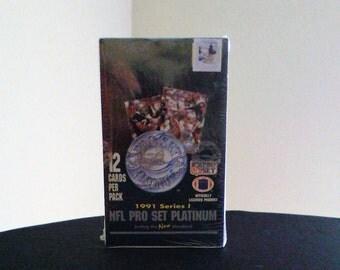 1991 Series I NFL Pro Set Platinum Football Cards
