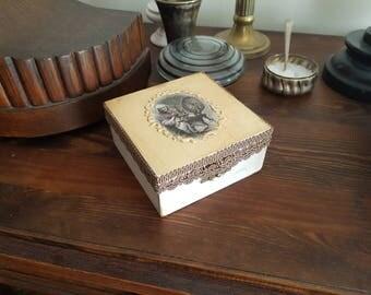 Wooden decoupage box