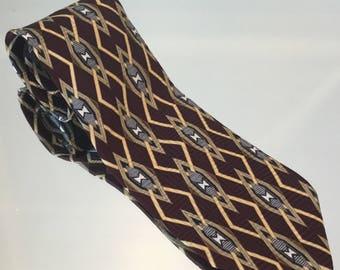 Men's Tie Vintage Silk Tie Vintage Woodward