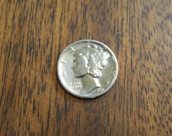 Vintage 1943 Silver Mercury dime