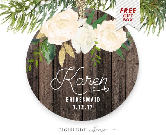 Wedding Gift Ornaments: Bridesmaid Ornament Wedding Gift Ideas For Bridesmaids