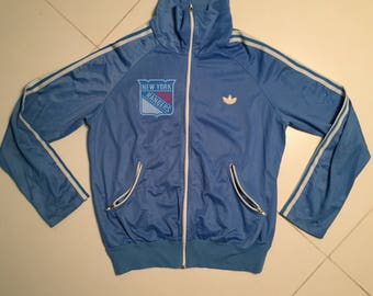 Adidas New York Rangers Track Jacket blue West Germany blue Vintage 90s - size men S