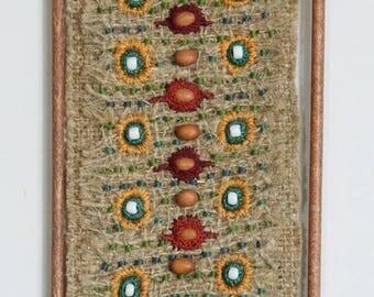 Ethnic textile art painting