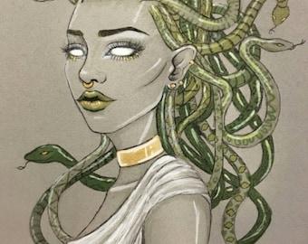 Medusa, 11,6 x 8,3 inches