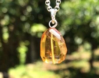 Authentic Citrine Gemstone Necklace!