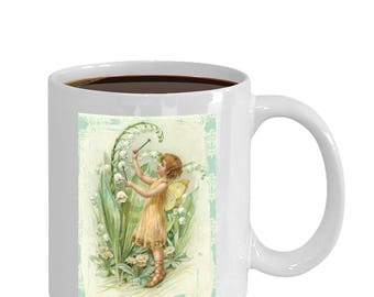 fairy fantasy art design coffee and tea mug ceramic 11oz or 15oz