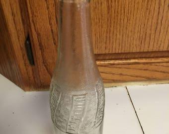 Vintage 1940s Pepsi Cola Soda Bottle Clear Glass