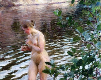 Frileuse Painting by Anders Zorn Art Reproduction