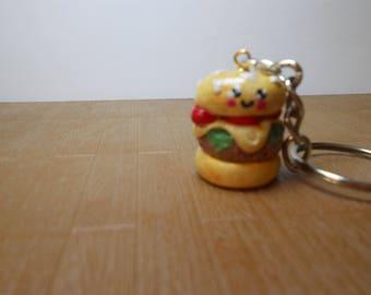 Hamburger kawaii keychain