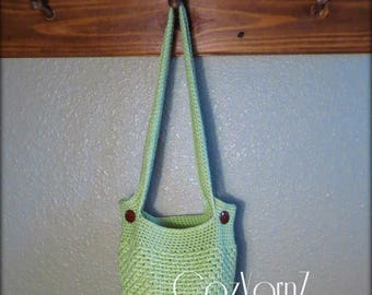 Market bag, shopping bag, book bag, purse, handbag, green market bag, casual soft handbag, shoulder bag, green beach bag