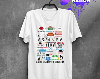 Friends TV Show Shirt Clothing Shirt Gift Idea Friends Gift Quote Friend Gift Friends TV Show Movie Shirt Printed Tumblr Graphic Tee BFT028