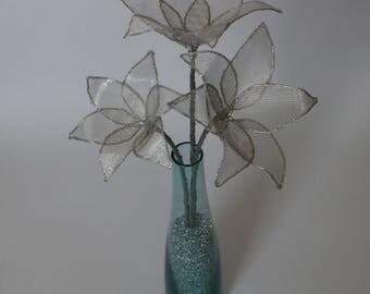Wire Flowers in Vase