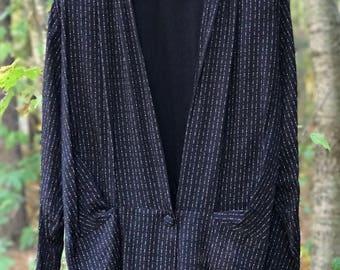patterned long sleeve blouse/shell/blazer