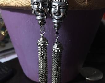 Buddha Tassel Earrings