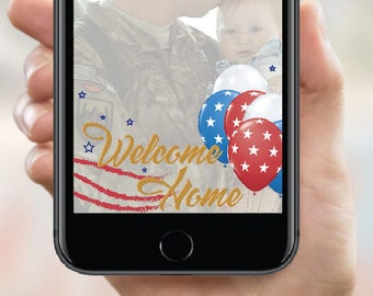 Military Snapchat Filter. Instant Download. For when your loved ones come home.