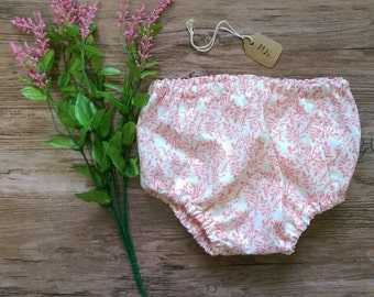 Bloomers Diaper Cover, Floral Girls Bloomers, Pink Baby Bloomers, Infant Floral Bloomers, Girls Diaper Cover