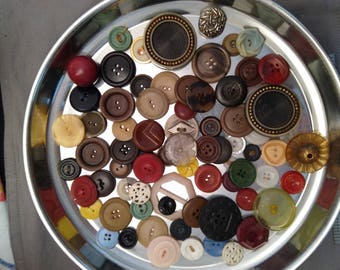 Assorted Vintage Art Deco, Mid Century, One of a Kind Buttons