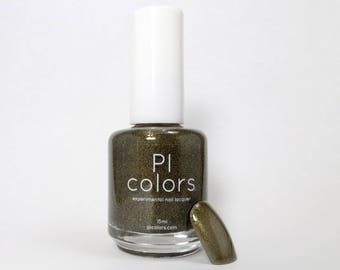 Soot Gold.012 Nail Polish Black to Gold Thermal Color Change