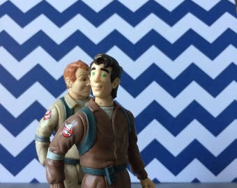 Who you gonna call? 1984 Ghostbusters Action figures!  Ray and Peter / Vintage