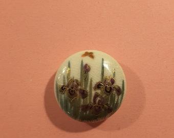 Antique Satsuma porcelain (dia.27mm) antique button.