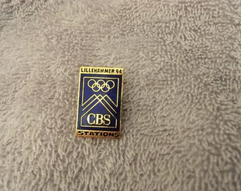 CBS Stations 1994 Lillehammer Olympics Enamel Pin – RARE - Vintage - Collectible