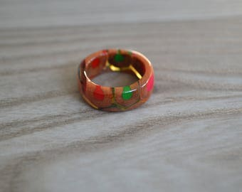 Colored pencil ring, ring from pencils