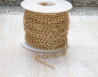 Medium Curb Chain Matte Gold