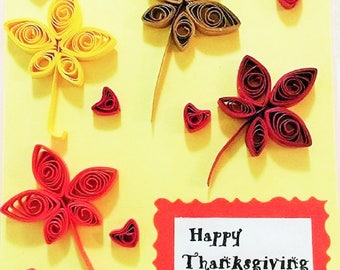 Happy Thanksgiving Quilling Card