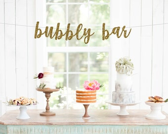 Bubbly Bar Banner, Pick your Color Custom Sign Garland, Mimosa, Drink, Brunch Party Decorations, Bridal Shower, Wedding, Birthday, Reception