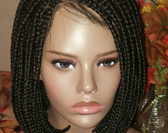 Lace braided wig