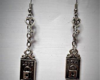 Key and lock earring