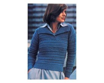 Sampler Pullover Knitting Pattern