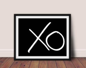 XO print, XO wall art, Printable art, Typography poster, Scandinavian print, XO decor, X O wall art, Love print,Minimalist print,hugs kisses