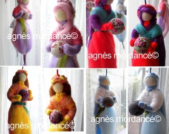 Mobile felted wool - on order only - OOAK dolls