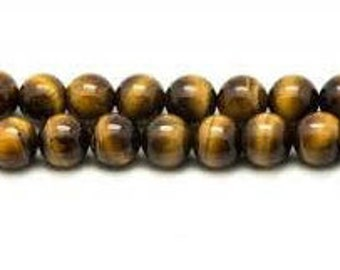 Tiger's eye, 10 mm beads, wire