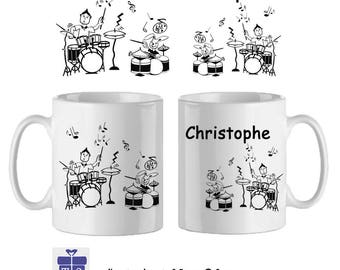Mug battery name to personalize ex Christophe