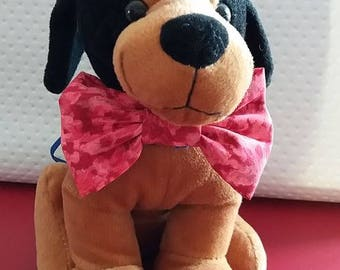 Michael: Red bow tie for dog collar