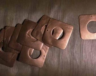 10 charms square - copper