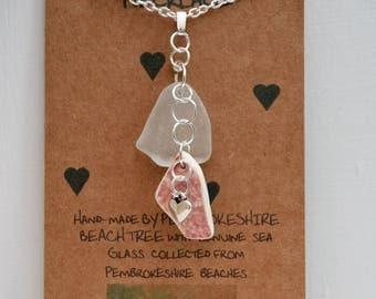 Pembrokeshire sea glass pendant necklace