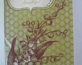 """Journal - """"flower - Lily"""" Theme with a phrase on the cover"""